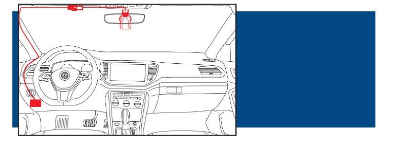 Оригинальный штатный видеорегистратор Faw-Volkswagen схема прокладки проводов