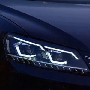 Передняя LED V2 оптика Фары для Фольксваген Passat B7 2011-2015 USA
