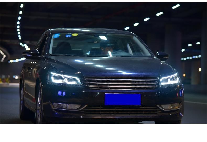 Передняя раздельная LED оптика Фары для Фольксваген Passat B7 2011-2015 USA1